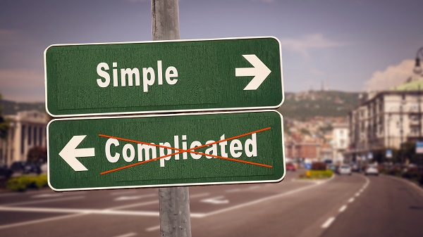 Simple Complicated Street Sign Pic 600 x 400